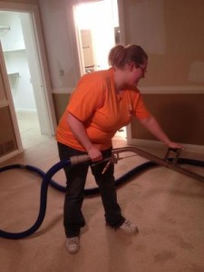 Water Damage Gonzales Technician Vacuuming Up Water