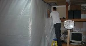 Water Damage Restoration With A Vapor Barrier