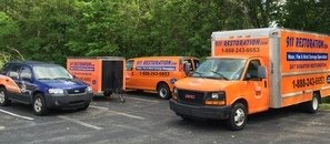 Water and Mold Damage Restoration Trucks And Van And Trailer